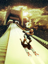 Ski jump Royalty Free Stock Photo