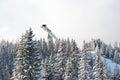 Ski jump in Strbskie Pleso, Slovakia