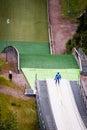 Ski Jumper at take-off Royalty Free Stock Photo
