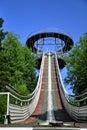 Ski jumping arena Royalty Free Stock Photo