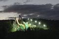 Ski jumping hills in night time lighting nizhniy tagil russia Royalty Free Stock Photos