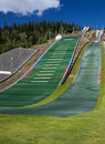 Ski jumping ramps Stock Image