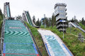 Ski jumps in Rovaniemi Finland Stock Photo