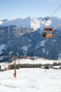 Ski lift in austrian alps amade region salzburgerland Royalty Free Stock Photos