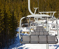 Ski lift chair at resort Stock Images