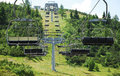 Ski Lift on Monte Zoncolan in Summer Royalty Free Stock Image