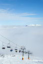 Ski lift in mountain resort germany alps Stock Photos
