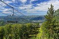 Ski lift mountain in summer Royalty Free Stock Photo