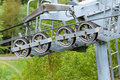 Ski lift technology machinery details Stock Image