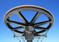 Ski lift wheel Stock Photography