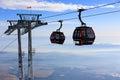 Ski lift on winter resort