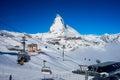 ski on Matterhorn Peak Royalty Free Stock Photo