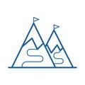 Ski Mountain Icon