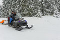 Ski patrol evacuate an injured skier jakuszyce poland february Stock Photography