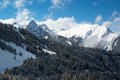 Ski resort alpes valley montafon Royalty Free Stock Photo