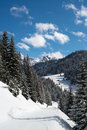 Ski resort alpes valley montafon Stock Image
