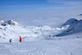 Ski resort in the alps kitzsteinhorn austria a sunny day Stock Images