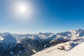 Ski resort Bad Gastein in winter snowy mountains, Austria, Land Salzburg Royalty Free Stock Photo