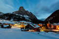 Ski Resort Of Corvara At Night