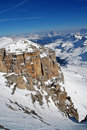 Ski resort in the Dolomities Stock Image