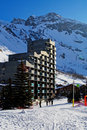 Ski resort hotel Stock Image