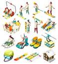 Ski Resort Isometric Icons