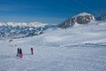 Ski resort of Kaprun, Austria Royalty Free Stock Photography