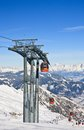 Ski resort of kaprun austria kitzsteinhorn glacier Royalty Free Stock Photo
