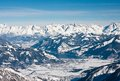 Ski resort of kaprun austria kitzsteinhorn glacier Stock Photography