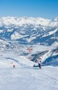 Ski resort  Kaprun, Austrian Alps Royalty Free Stock Photo