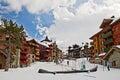 Ski resort of  les Arcs 1950 Royalty Free Stock Photo