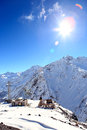 Ski resort on mount elbrus in winter Stock Photos