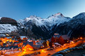 Ski resort at night Stock Photography