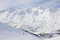 Ski resort obergurgl austria view of Royalty Free Stock Photo