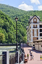 Ski resort rosa khutor ahead of the olympics in sochi russia august event trip to sochi on august Stock Photo