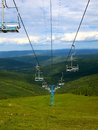 Ski resort in summer Royalty Free Stock Photo