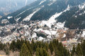 Ski resort town Bad Gastein in winter snowy mountains, Austria, Land Salzburg Royalty Free Stock Photo