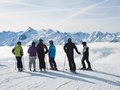 Ski resort Zell am See Royalty Free Stock Photos