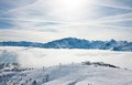 Ski resort Zell am See. Austria Stock Images