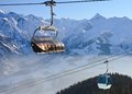 Ski resort zell am see austria lift Stock Photos
