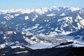 Ski resort Zell am See, Austrian Alps at winter Royalty Free Stock Images