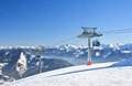 Ski resort zell am see austrian alps at winter Stock Photos