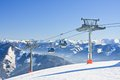 Ski resort zell am see austrian alps at winter Stock Images