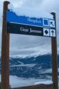 Ski Sign Stock Images