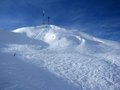 Ski slope in Alps Stock Photo