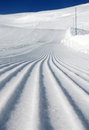 Ski slope desert in winter time Royalty Free Stock Photography