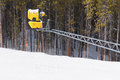Ski slope snow machine Royalty Free Stock Image