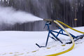 Ski slope snow machine Stock Image