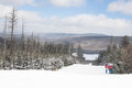 Ski Slope on Snowshoe Mountain, West Virginia Royalty Free Stock Photo