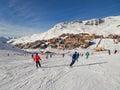 Ski slope at Val Thorens Royalty Free Stock Photo